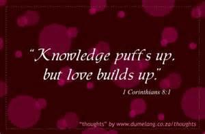 knowlege, love