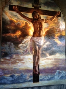 """Award-winning-mosaic! The """"Crucifixion."""" Breathe Christian Writer's Conference  in Michigan (There's no place like home!), October 2014."""